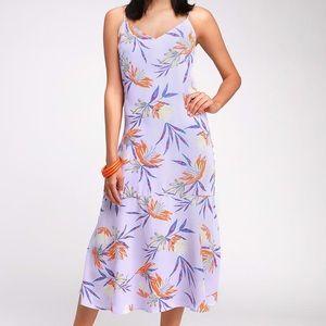 Lilac / lavender long floral dress